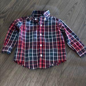Janie and Jack Baby Boy Plaid Twill Dress Shirt